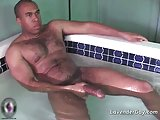 Black dude with a big cock masturbating