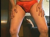 Amateur In Red Pants Pissing & Wanking