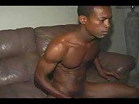 Hot cumshot from ebony monster dick