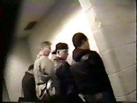 Voyeur Spying On Wanking Guys In WC