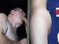 Mature Pervert Fucking Through The Gloryhole