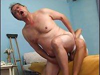 Old Patient Riding Stiff Dick