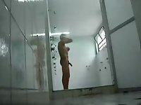 Hidden cam in the shower