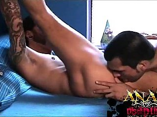 Pierced Tattooed Studs Making Out