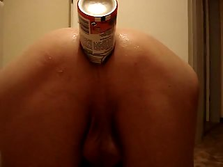 Naughty Dude Stretching Anus With An Object
