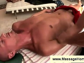 Troy Michaels gets touched during a massage