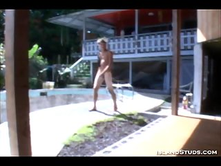 Dylan masturbates in the garden