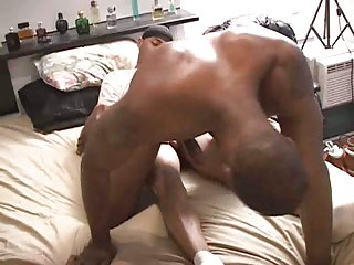 Ebony Studs Safe Penetration On A Bed
