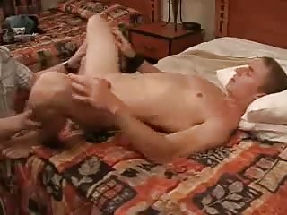 Wanking Guys Gets Ass Stretched