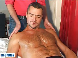 Sergio gets tempting massage