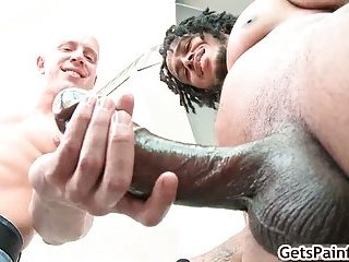 Dude gets ass ripped by big black dude