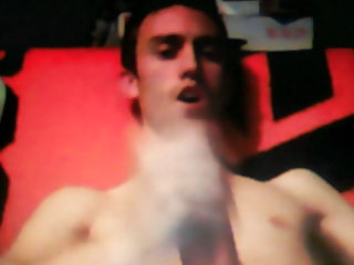 Horsed cocked guy jerking on cam