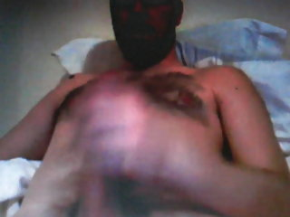 Bearded hairy bear on cam