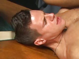 Guys In Uniform Table Fuck