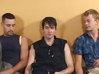 Ultra sweet amazing threesome on a sofa