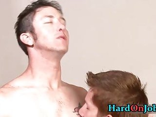 When the boss is away these guys start sucking gay cock