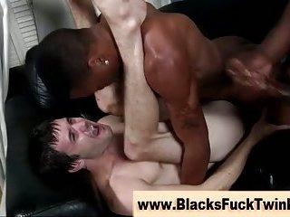 Nasty white amateur gay gets cumshots