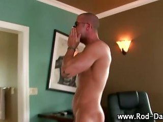Hot gay pornstar cums