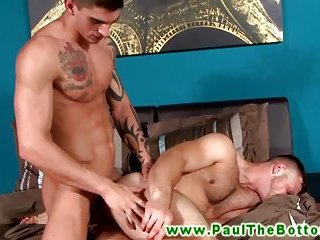 Horny bottom loves cock banging his ass from a hunk