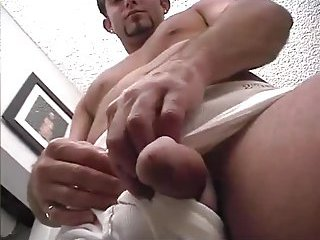 Cute Office Worker Beating Off