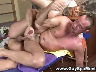 Straight bear riding cock
