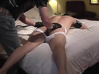 Dude dominated and spanked
