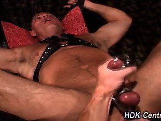 Ass fisted and cock jerked
