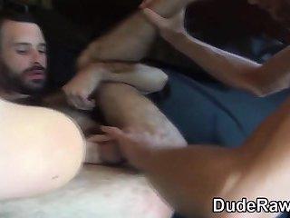 Rimmed bear barebacked