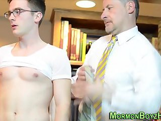 Shaved mormon assfingered