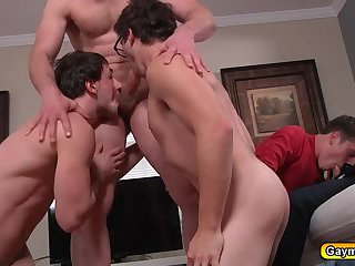 Biggest Pervert in town is getting hot orgy