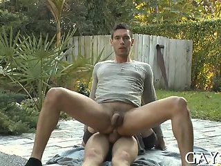 Tight gay anal is fucked